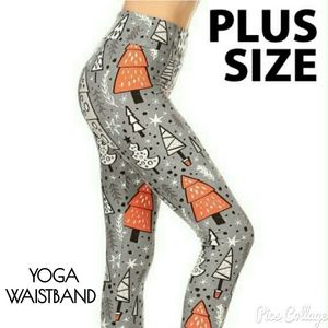 MOVING SALE! Christmas Print w/Yoga Waistband